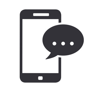 Smartphone phone message icon symbol vector illustration