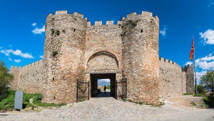 Entrance gates to the castle Samuil in Ohrid Fototapete