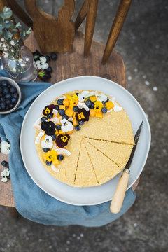 Raw Vegan Mango Coconut Cheesecake