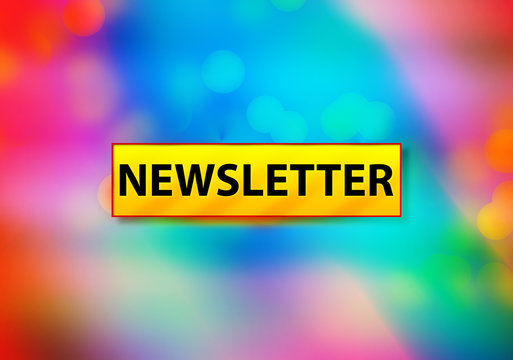 Newsletter Abstract Colorful Background Bokeh Design Illustration