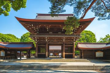 Main Hall of Meiji Shrine in Tokyo, japan Wall mural