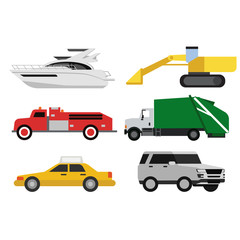 Car pattern flat illustration design