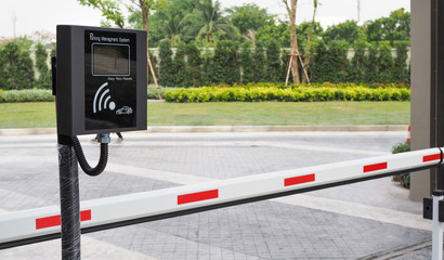 wireless parking management system machine and automatic gate barrier, village entrance access security system