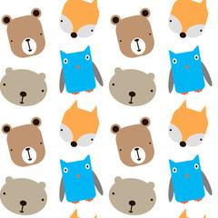Animal pattern flat illustration design