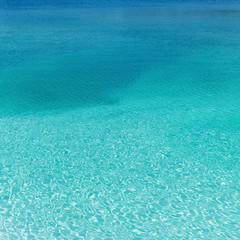 Fototapete - beautyful clean blue water blue lagoon quadrat
