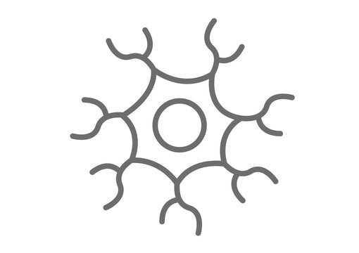 nerve cell icon vector