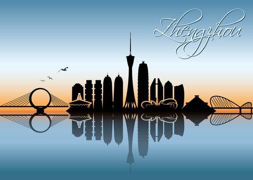 Zhengzhou skyline - China - vector illustration - Vector