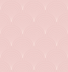 Seamless wave pattern, dusty rose old fashioned seamless background, vector illustration