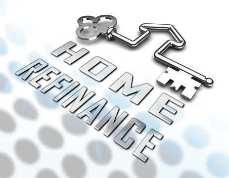 Refinance Your Home Key Representing Home Equity Line Of Credit - 3d Illustration