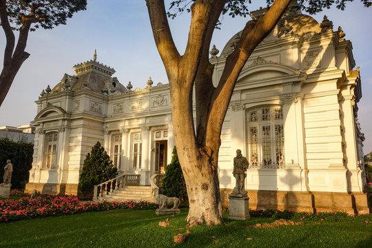 Lima, Peru - Nov 18, 2018: Pedro de Osma Museum in Lima's Barranco district