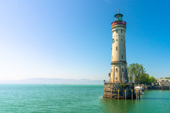 New lighthouse in Lindau, Bavaria