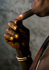 Mursi Tribe Woman With Enlarged Lip In Mago National Park, Omo Valley, Ethiopia