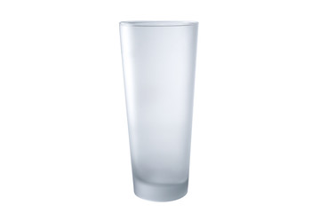 Tall Glass of Water on White Background