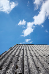 Roof made of carcinogenic asbestos tiles.