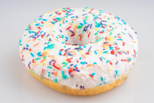white donut on white background
