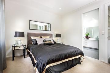 A well-lit bedroom