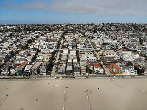 ロサンゼルス・マンハッタンビーチの住宅街