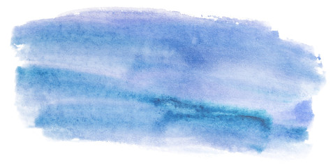 Printed roller blinds Fantasy Landscape blue texture watercolor background stain element, detail