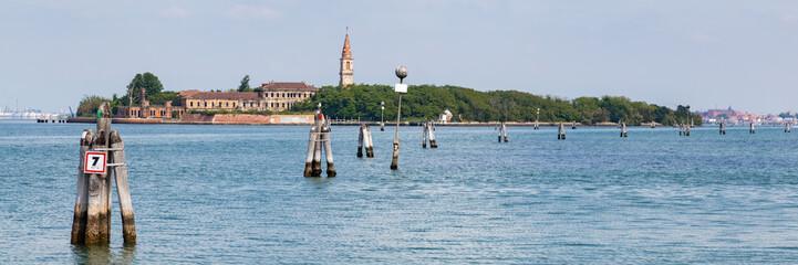Poveglia island in Venice, Italy