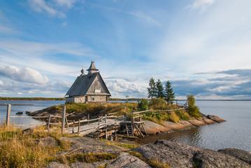 Russian landscape. Russian north, Karelia.