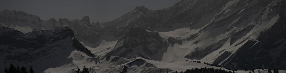 Nocturnal Alpine Landscape Wall mural
