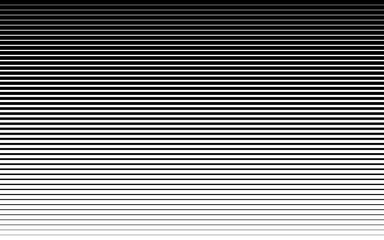 Horizontal speed line halftone pattern thick to thin. Vector illustration