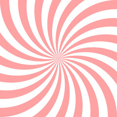 Sweet pink candy abstract spiral background. Vector illustration