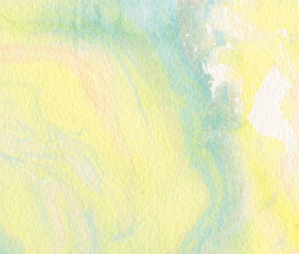 yellow watercolor background - abstract border