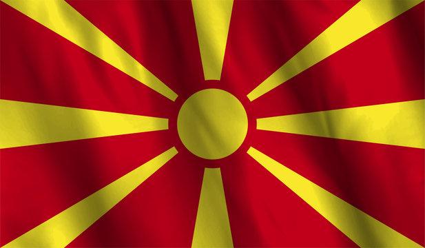 Macedonia flag waving illustration. design