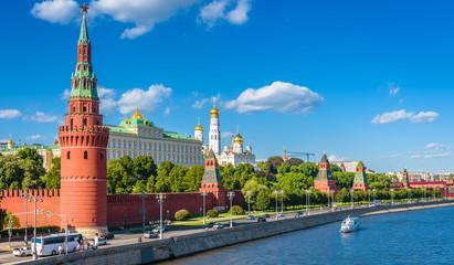 Fototapete - Moscow Kremlin in summer, Russia