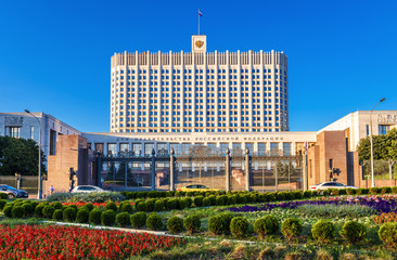 Fototapete - House of Government of Russian Federation in Moscow