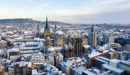 Aachen City in Winter
