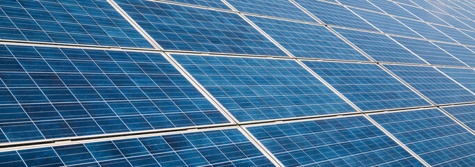 solar panels photovoltaic, alternative electricity source, banner size