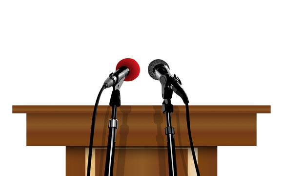 microphone on the lectern