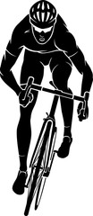 Cyclist Racer Front View