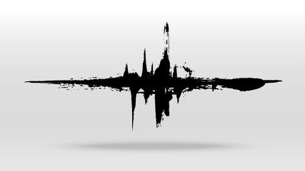 Brush stain sound wave vector