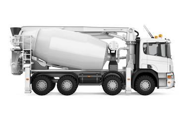 Concrete Mixer Truck Isolated