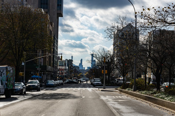 Seventh Avenue (Fashion Avenue) and known as Adam Clayton Powell Jr. Boulevard in harlem, New York City