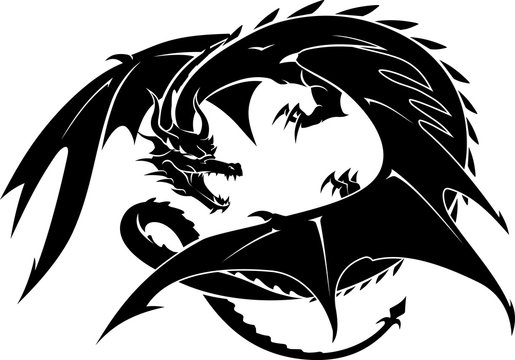 Dragon Guarding and Crouching