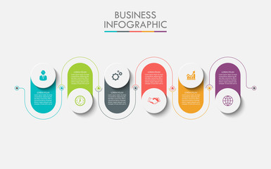 Business data visualization. timeline infographic icons designed for abstract background template milestone element modern diagram process technology digital marketing data presentation chart Vector