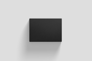 Blank Cardboard Box Mock up on light grey background. Realistic photo.3D rendering