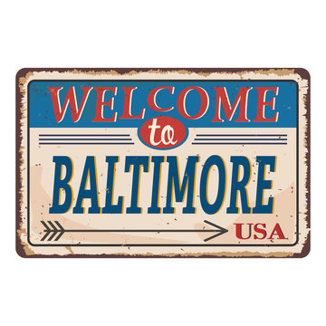 Baltimore rusty grungy sign background. Vector illustration EPS10
