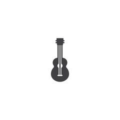 Guitar music instrument icon vector