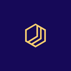 Blockchain technology logo icon template. Cryptocurrency and bitcoin logotype illustration