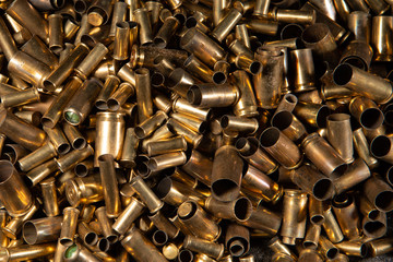 lot of used bullet shell