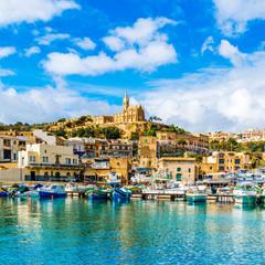 Mgarr harbour view, Gozo, Malta