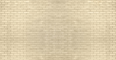 Fotobehang - Background of old vintage yellow brick wall texture. Panoramick banner