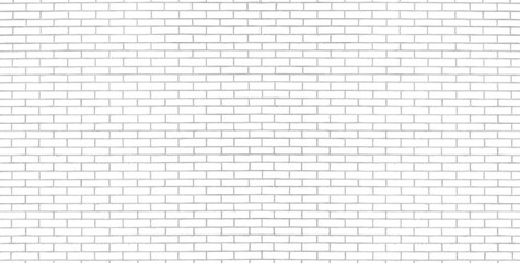 Fotobehang - Modern white brick wall texture for background