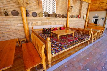 raised flooring type room, Samarkand, Uzbekistan
