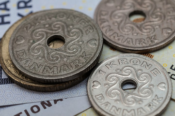 Danish kroner, currency from denmark in europe